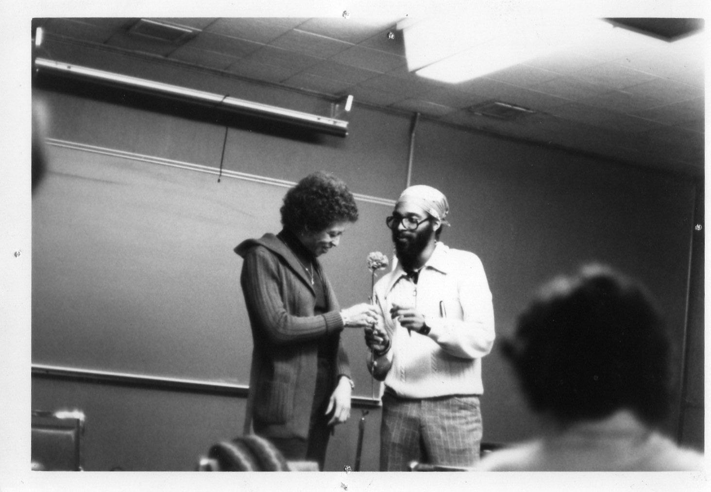 Mwatabu Okantah with Angela Davis, 1976-77